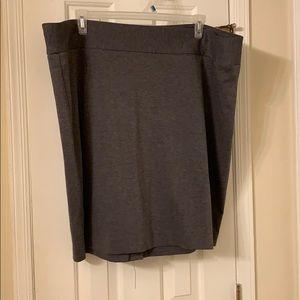 Lane Bryant 26 Gray Dress Skirt EUC